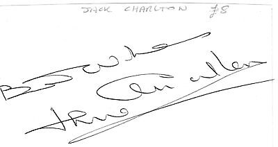Jack Charlton Autograph, Football World Cup Leeds United