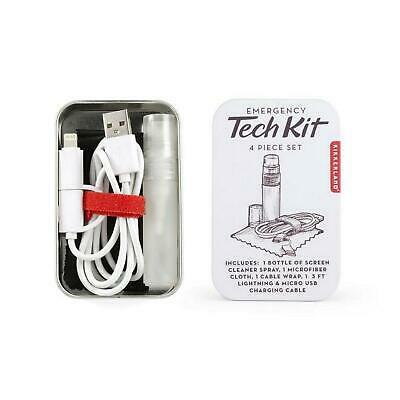 Kikkerland Emergency Tech Kit Four Piece Set Portable Compact Unisex Gift Idea