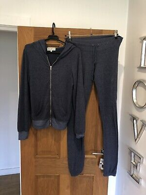 Womens Wildfox Blue Worn Look Fleece Tracksuit Top & Trousers Size S