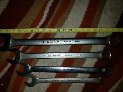 1-1/2 & 1-1/4 Blackhawk Wrenchs, 1-1/8 Armstrong Wrench And 1 Inch Proto wrench