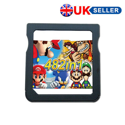 482 in 1 NDS Games Cartridge Gaming for Nintendo DS Lite DSi 3DS 2DS Mario Sonic