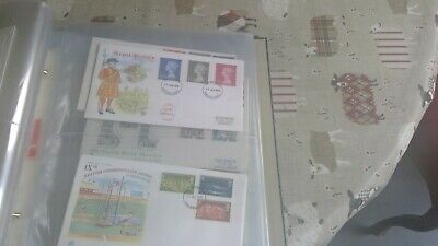 GB FDC Collection(1970-1979)with album-28 covers fdi-nice lot