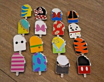 Disney Trading Pin lot Set of 16 Ice Cream Bar Mystery Park Pack Popsicles