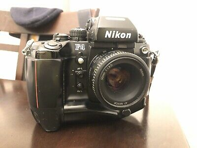 Nikon F4 35mm SLR Film Camera Body With Nikkor 50mm 1.8 D Lens.
