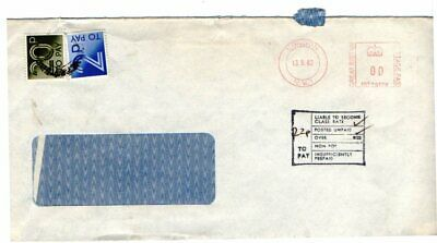 Gb. A 1983  Cover From London. Franked With 00, Hand Stamp & 20 P+2P Postage Due