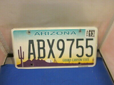 Arizona License Plate  # Abx9755 Expired Over 3 Years  Exp Apr 13