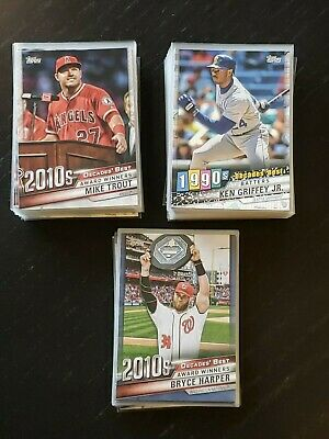 2020 Topps Series 1 Decades Best You U Pick: Trout, Ryan, Ripken w/ BLACK, BLUE