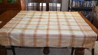 Vintage 1930's Square Plaid Tablecloth / Tea / Luncheon Fall Colors  RN209