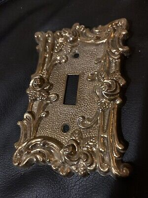 Bronze Switch Plate Cover Amer Tack & Hdwe Co 1967 Vintage