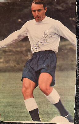 Signed Jimmy Greaves England World Cup 1966 Tottenham Hotspur FC Spurs