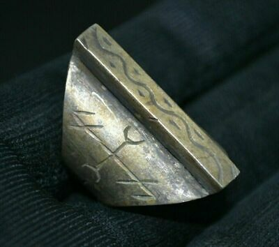 """FABULOUS STATUS Ring Runic Ornament """"Snake"""" Antique 6-12th Century AD VERY RARE"""