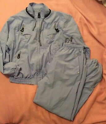 Jamie Sadock Windbreaker Track Suit Jacket Pants Lined  Pale Purple  Med Vintage