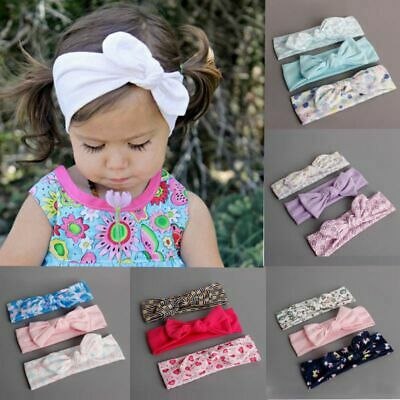 Baby Girls Princess Bow Infant Bowknot Headwear Flower Hairband Cotton Headband