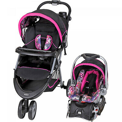 BABY STROLLER And CAR SEAT Combo Walking Toddler Travel System Infant Safety