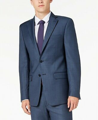 Calvin Klein Men's Slim-Fit Stretch Suit Jacket Sport Coat Blue 42R NEW $495