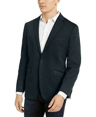 Kenneth Cole Reaction Mens Slim-Fit Stretch Knit Sport Coat Jacket Navy 44R $350