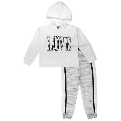 Limited Too Girls White 2 Piece Graphic Jogger Pant Outfit S 4 BHFO 2855