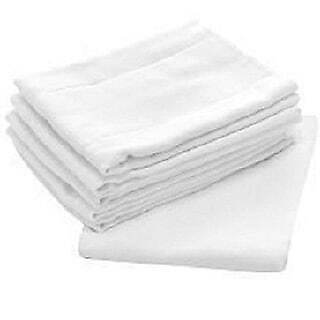 Birdseye 100-percent Cotton 27-inch x 27-inch Flat Cloth White 5