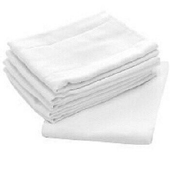 Birdseye White 100-percent Cotton 27-inch x 27-inch Flat  5