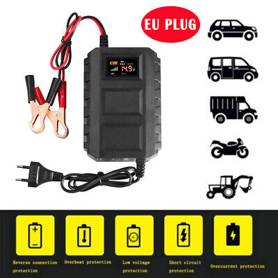 12V Motorcycle Motorbike Smart Battery Charger Automatic Smart Trickle Charging