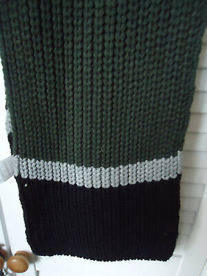 Winter Scarf Green, Black and Grey