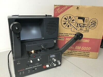 Goko RM 5000 Super 8 Stereo Sound Multi recording film editor viewer NF system