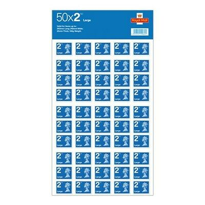 50 2nd Class LARGE Postage Stamps Royal Mail Stamp