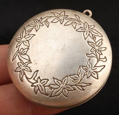China Tibet Silver Pendant Photo Box Portable Decorative Collection Gift