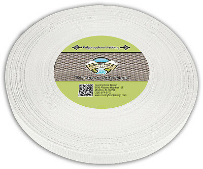 Country Brook Design® 1 Inch White Polypro Webbing, 25 Yards