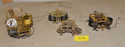 4 Vintage clock movements Sessions & more collectible mantle part repair lot G12