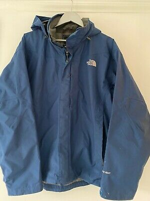The North Face Mens Waterproof Jacket in Blue Size Large