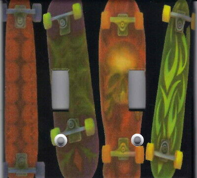 Skateboards On Black Home Decor Light Switch Plates And Outlets
