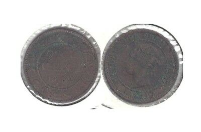 1882 Canada Queen Victoria Large Cent in Fine to Very Fine Condition ~