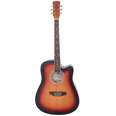 "41"" Full Size Steel String Folk Guitar Cutaway Notch w/ Bag Right Hand - Sunset"