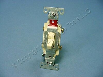 Cooper Electric Ivory COMMERCIAL DOUBLE POLE Toggle Wall Light Switch 20A CS220V