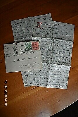 An Original & Authentic Ww2 Letter Written By A Serving Soldier Dated 1943.