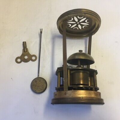 Antique French Mantle Clock Movement  Complete .Needs service / clean
