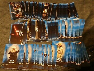 TOPPS STAR WARS THE RISE OF SKYWALKER x 93 BLUE PARALLEL BASE CARDS