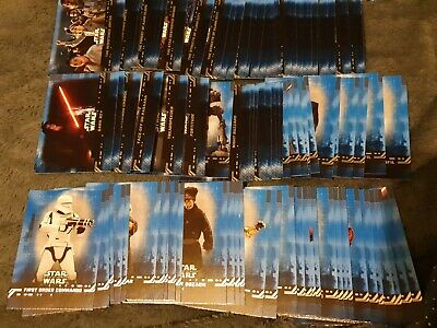 TOPPS STAR WARS THE RISE OF SKYWALKER x 90 BLUE PARALLEL BASE CARDS