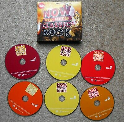 Now 100 Hits Classic Rock 6Cds 2019 Stones Quo  Queen Who Lizzy Clash Etc Exc