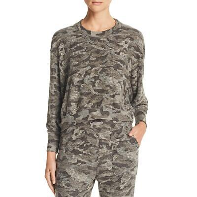 Joie Womens Caleigh Cropped Camouflage Soft Sweatshirt Top BHFO 9185