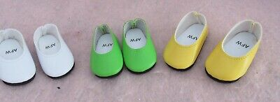 3  Pairs of Shoes fit American Girl Wellie Wisher Doll 14.5 Inch Seller lsful