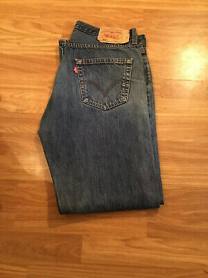 Genuine Levi's levi strauss 501 mens red tab blue denim Jeans W36 L32