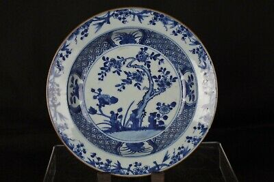 Fine Antique Chinese Handpainted Blue and White Plate