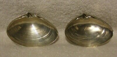 Wallace Sterling Clam Shell Pair Sterling Clam Shell Dishes VTG
