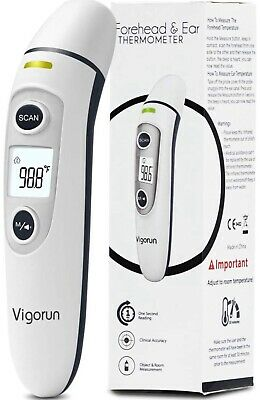 Vigorun Digital Medical Infrared Forehead and Ear Thermometer 【Baby and Adults】