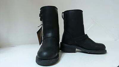 River Road Twin Buckle English Motorcycle Boots Black Womens Size 7 Biker