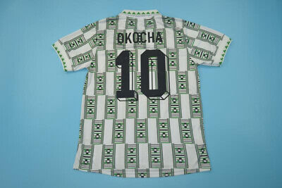 Nigeria Retro Away Shirt Okocha 10 Football World Cup 1994 Jersey Vintage Soccer