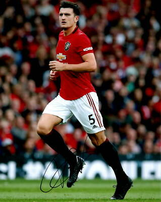 Manchester United Harry Maguire Autographed Signed 8x10 Photo COA #3