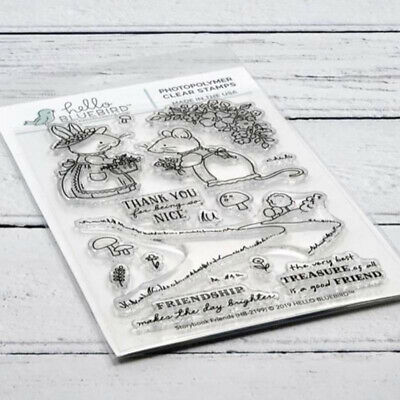 Mouse Metal Cutting Dies and Clear Stamp Scrapbooking Album Craft DIY Making